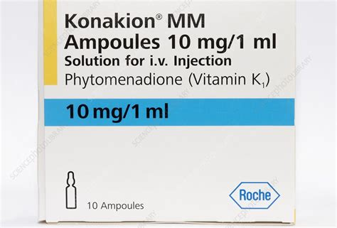 Pack of Konakion ampoules - Stock Image C016/8208