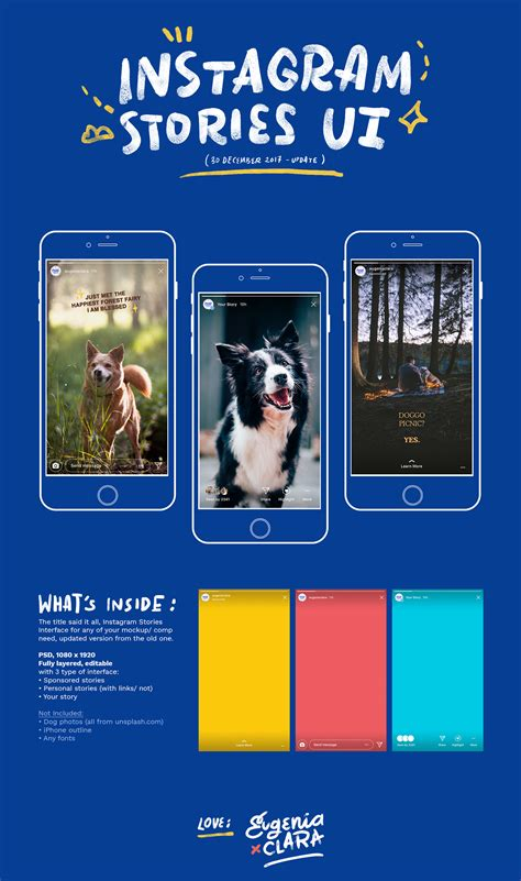(UPDATED) Instagram Stories Interface - PSD Freebies on