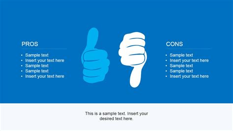 Pros & Cons PowerPoint Template - SlideModel