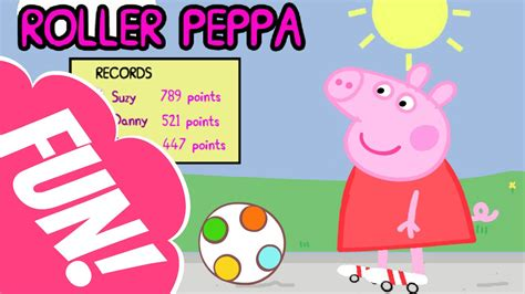 Roller Peppa Game | Peppa Pig Games To Play For kids - YouTube