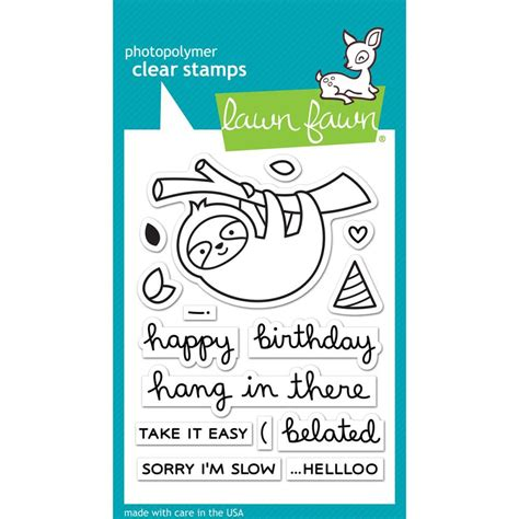 Lawn Fawn Hang In There Stamps