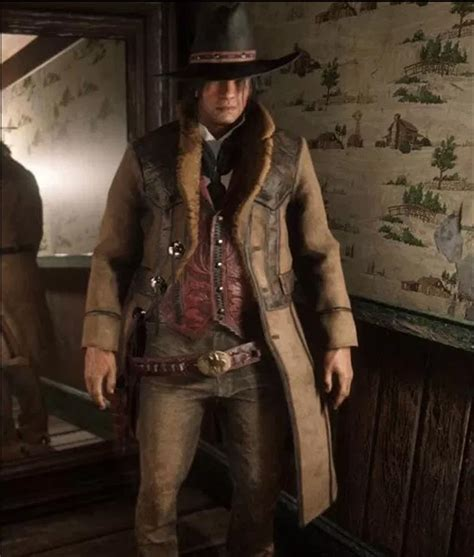 Red Dead Redemption 2 Montana Brown Trench Coat