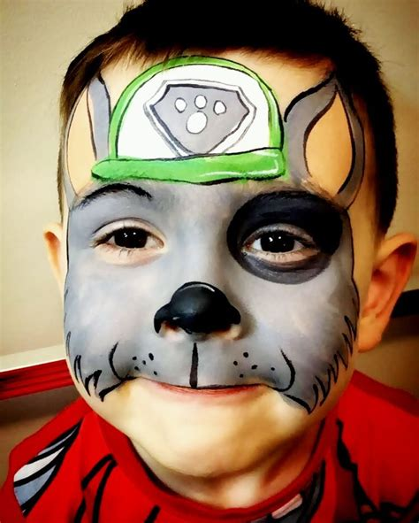 Paw patrol rocky face painting | Paw patrol face paint
