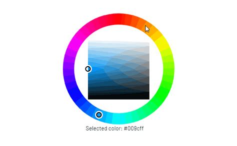 A Vue color picker component based on the Farbtastic